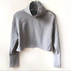 Zara Trafaluc Collection Grey Crop Top Size XS